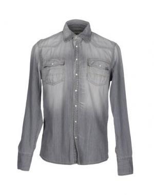 Джинсовая рубашка CARE LABEL. Цвет: серый