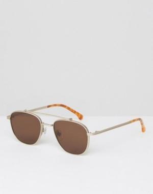 Komono Солнцезащитные очки-авиаторы Alex. Цвет: золотой