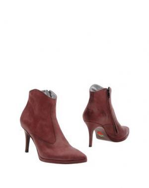 Полусапоги и высокие ботинки FREE LANCE. Цвет: баклажанный