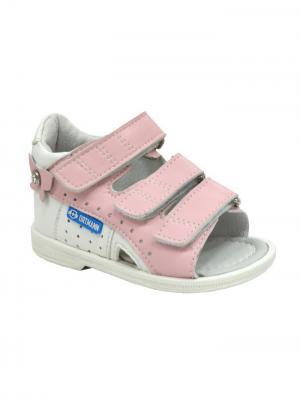 Обувь ортопедическая малосложная STENLY, арт. 7.44.2 ORTMANN. Цвет: розовый, белый