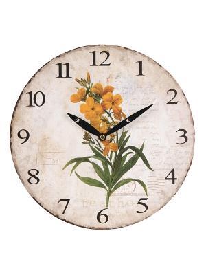 Часы настенные Mitya Veselkov. Цвет: белый, зеленый, желтый