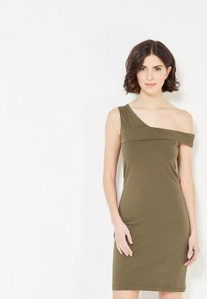 Платье Noisy May. Цвет: хаки