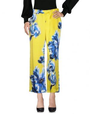 Повседневные брюки AGNESE GALLAMINI. Цвет: желтый