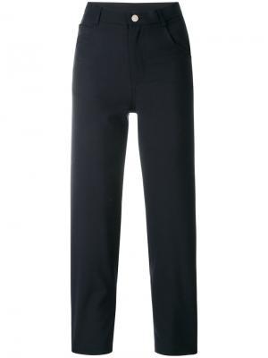Укороченные брюки  с завышенной талией Roseanna. Цвет: синий