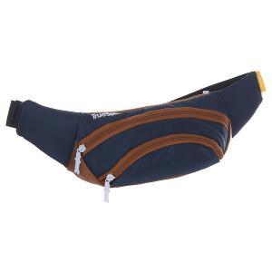 Сумка поясная  Wisst Bag F.bottom Navy/Brown TrueSpin. Цвет: синий,коричневый