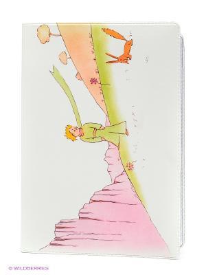 Обложка для автодокументов Принц и лис Mitya Veselkov. Цвет: белый, салатовый, бледно-розовый