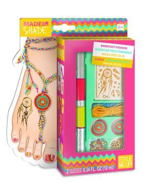 Набор для создания украшений Модные ножки - Закат STYLE ME UP. Цвет: зеленый, белый, розовый