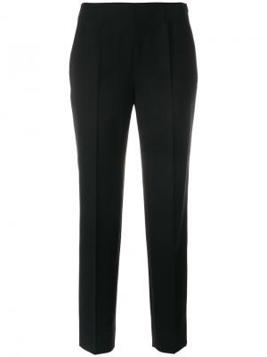 Укороченные брюки Piazza Sempione. Цвет: чёрный