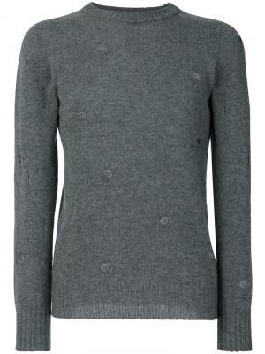 Holes detail sweatshirt Dondup. Цвет: серый