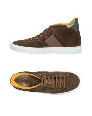 Высокие кеды и кроссовки ENRICO FANTINI. Цвет: хаки