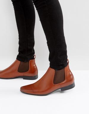 New Look Светло-коричневые ботинки челси. Цвет: рыжий