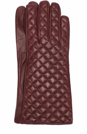 Кожаные перчатки Sermoneta Gloves. Цвет: бордовый