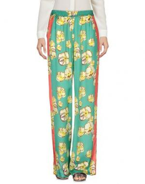 Повседневные брюки GARAGE NOUVEAU. Цвет: зеленый