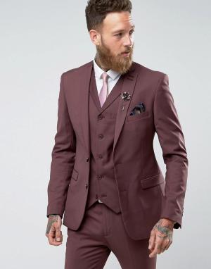 RUDIE Супероблегающий пиджак. Цвет: красный