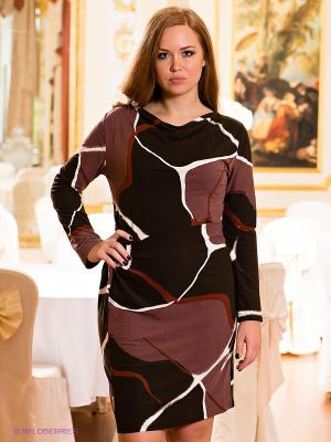 Платье МадаМ Т. Цвет: коричневый, лиловый, терракотовый