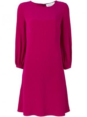 Платье шифт Gianluca Capannolo. Цвет: розовый и фиолетовый