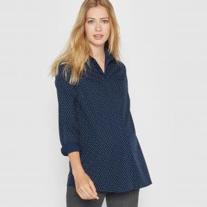 Рубашка для периода беременности с принтом в горошек R essentiel. Цвет: в полоску