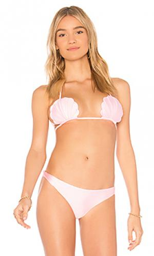 Верх купальника pixie lolli swim. Цвет: розовый