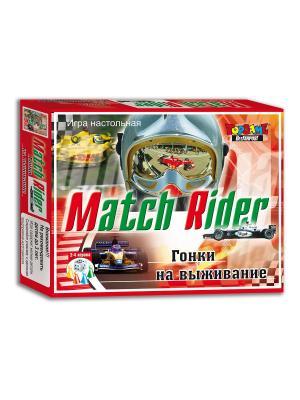 Гонки на выживание. Match Rider настольно-печатная игра TopGame. Цвет: зеленый, белый, красный
