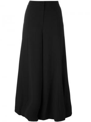 Широкие брюки Steve J & Yoni P. Цвет: чёрный