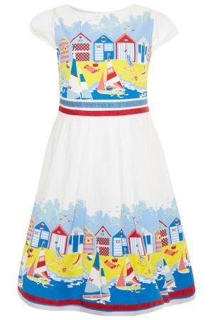 Платье Uttam kids. Цвет: белый
