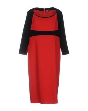 Платье до колена IVAN MONTESI. Цвет: красный