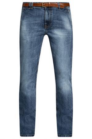 Брюки oodji. Цвет: синий,джинса