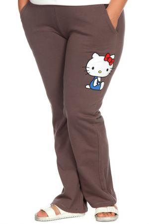 Брюки Hello Kitty. Цвет: коричневый