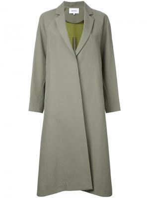Однобортное пальто Enföld. Цвет: зелёный