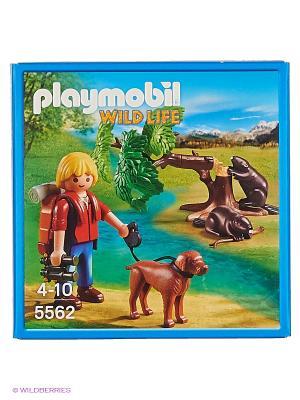 В Поисках Приключений: Бобры и юный натуралист Playmobil. Цвет: коричневый, красный