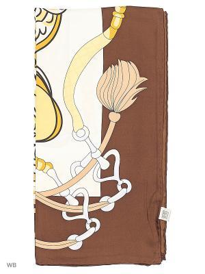 Платок Palantini. Цвет: коричневый