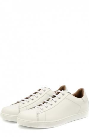 Кожаные кеды на шнуровке Gianvito Rossi. Цвет: белый