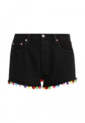 Шорты джинсовые Forte Couture. Цвет: черный