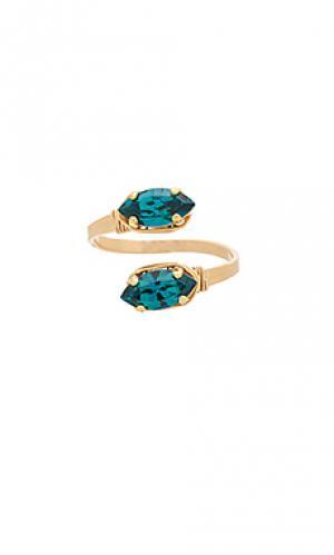 Кольцо scarlett Mimi & Lu. Цвет: металлический золотой