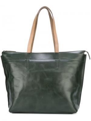 Большая сумка-тоут Wintour Ally Capellino. Цвет: зелёный