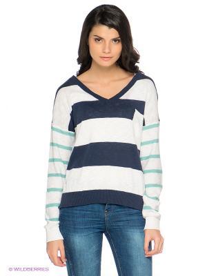 Пуловер Emoi by Emonite. Цвет: темно-синий, белый