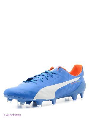 Бутсы evoSPEED SL FG Puma. Цвет: голубой