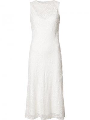 Платье шифт с круглым вырезом Narciso Rodriguez. Цвет: белый