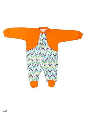 Комбинезон Babycollection. Цвет: оранжевый