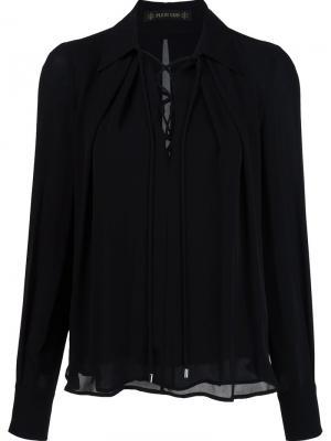 Блузка на шнуровке Plein Sud. Цвет: чёрный