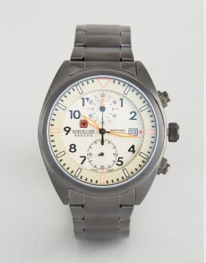 Swiss Military Серые часы Airborne. Цвет: черный