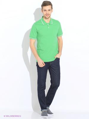 Футболка-поло КАЛIНКА. Цвет: зеленый