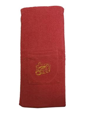 Юбка для сауны A and C Collection. Цвет: темно-красный