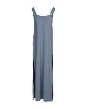 Длинное платье VANDA CATUCCI. Цвет: серый