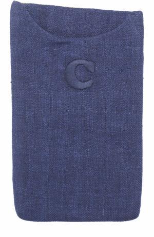 Льняной платок Caruso. Цвет: синий