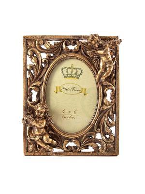 Фоторамка Завитки для фото 10*15см, 18*23см Русские подарки. Цвет: бронзовый