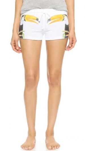 Летние пижамные шорты PJ Salvage. Цвет: белый