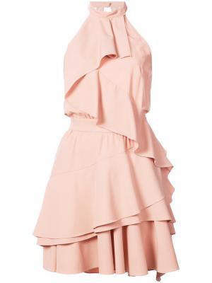 Платье с вырезом-халтер Marissa Webb. Цвет: розовый и фиолетовый