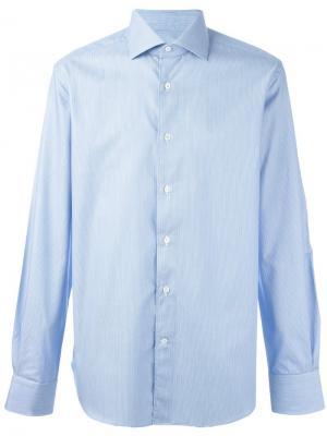 Классическая рубашка Corneliani. Цвет: синий