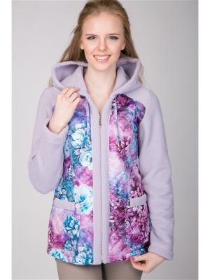 Куртка А Б Коллекция. Цвет: сиреневый